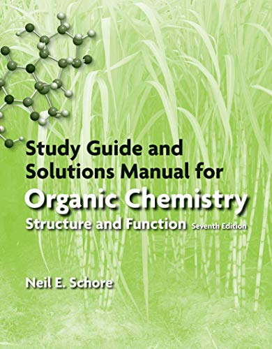 Study Guide/Solutions Manual for Organic Chemistry (Paperback): Peter Vollhardt