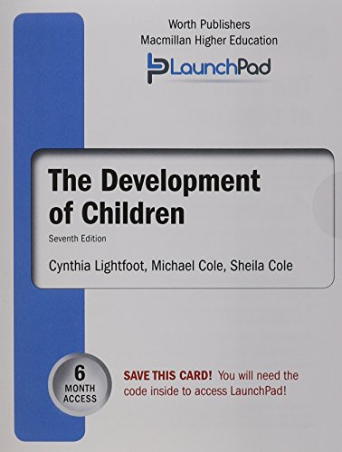 LaunchPad for Lightfoot's Development of Children (Six month access) - Cynthia Lightfoot; Michael Cole; Sheila R. Cole