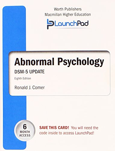 9781464164408: LaunchPad for Comer's Abnormal Psychology with DSM5 Update (Six month access)