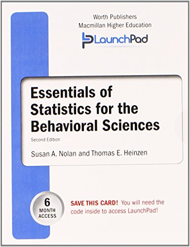 9781464164507: LaunchPad for Nolan's Essentials of Statistics (6 month access)