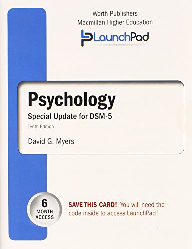 9781464164774: LaunchPad for Myers' Psychology with DSM-5 Update (Six month access)