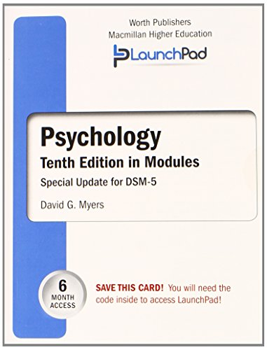 9781464164880: LaunchPad for Myers' Psychology in Modules (Six Month Access)