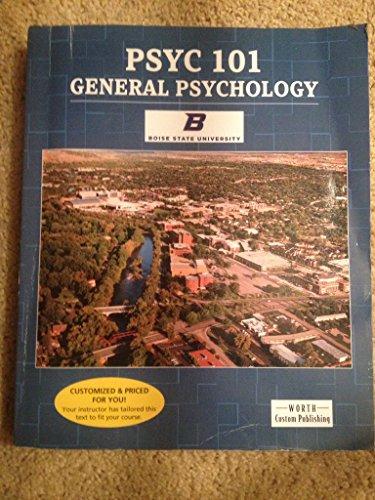 Boise State PSYC 101 General Psychology: Exploring