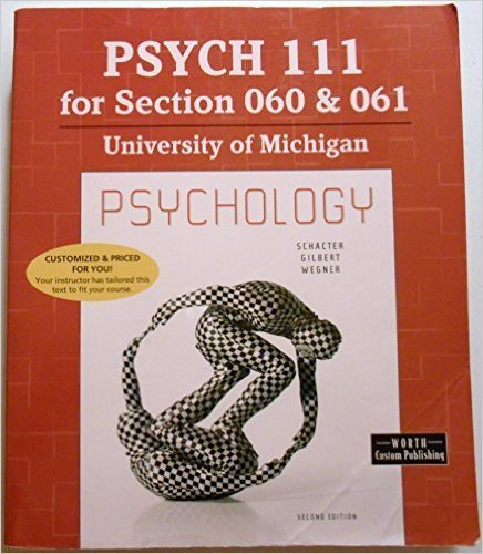 Psychology: for Psych 111 section 60 & 61 at University of Michigan: n/a