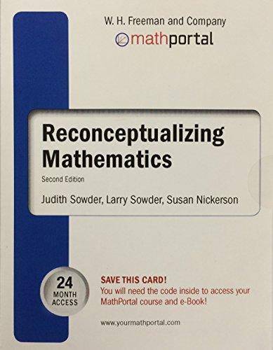 Math Portal to Accompany Reconceptualizing Mathematics, 2E: Judith Sowder