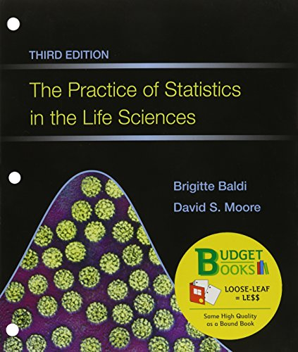 9781464175343: The Practice of Statistics in the Life Sciences (Loose Leaf) & CrunchIt/EESEE Access Card (Budget Books)
