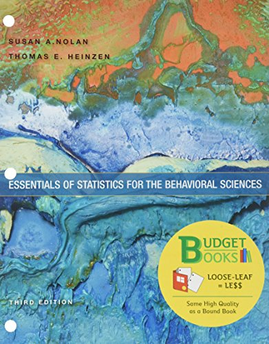 9781464177163: Loose-leaf Version for Essentials of Statistics for the Behavioral Sciences