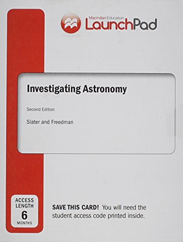 9781464178153: LaunchPad for Slater's Investigating Astronomy (Six Month Access)