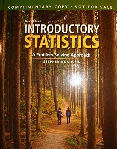 9781464179860: Introductory Statistics: A Problem-Solving Approach (INSTRUCTOR'S EDITION)