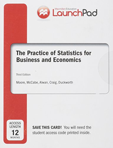 9781464181641: LaunchPad for Moore's The Practice of Statistics for Business and Economics (12 month access)