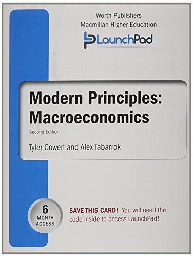 9781464186578: LaunchPad for Cowen's Modern Principles of Macroeconomics (6 month access)