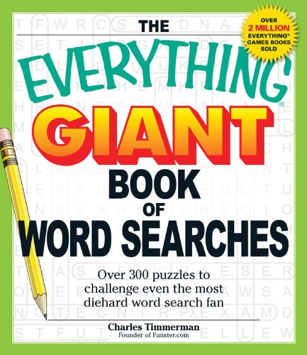 9781464300707: The Everything Giant Book of Word Searches: Over 300 puzzles to challenge even the most diehard word search fan (Everything Books)