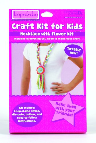 9781464701474: Loop-d-doo Craft Kits for Kids: Necklace with Flower (Leisure Arts# 46761)