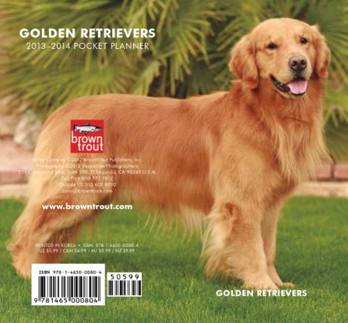 9781465000804: Golden Retrievers 2013 Two Year Pocket Planner