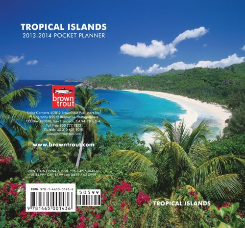 9781465001436: Tropical Islands Two Year Pocket Planner 2013 Calendar