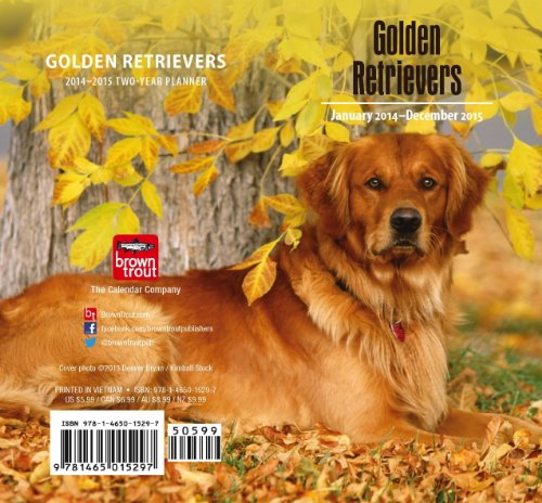 9781465015297: Golden Retrievers 2014 Pocket Planner