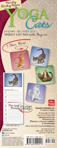 9781465022417: Yoga Cats with Magnet 2014 Weekly List Pad