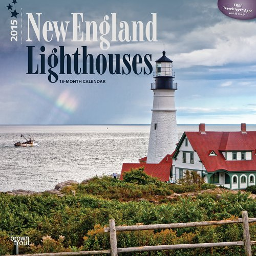 9781465028426: New England Lighthouses 2015 Calendar