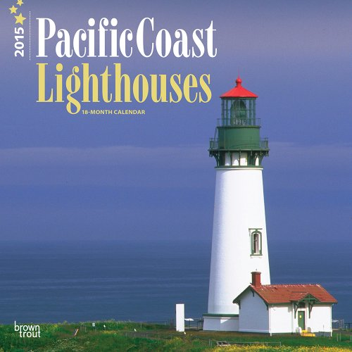 Lighthouses, Pacific Coast 2015 Square 12x12 (Multilingual: BrownTrout
