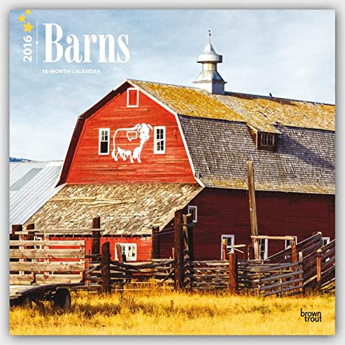 9781465040213: Barns 2016 Square 12x12