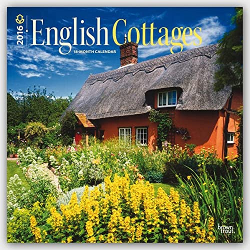 9781465043641: English Cottages 2016 - Englische Landhäuser - 18-Monatskalender: Original BrownTrout-Kalender