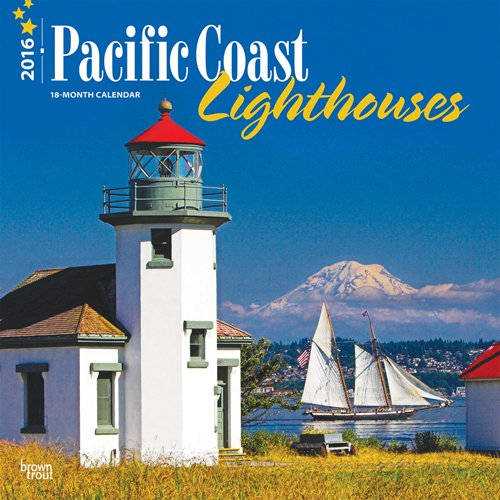 9781465044518: Lighthouses, Pacific Coast 2016 Square 12x12