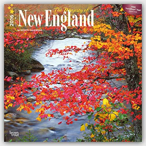 9781465044631: The Majesty of New England 2016 - Neuengland - 18-Monatskalender mit freier TravelDays-App: Original BrownTrout-Kalender