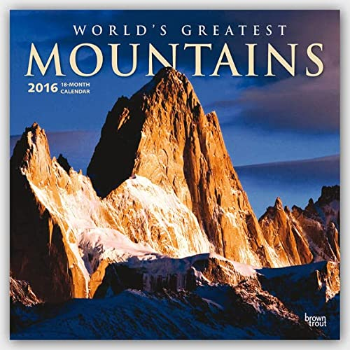 9781465044983: Mountains, Worlds Greatest 2016 Square 12x12 (ST-Gold Foil) (Multilingual Edition)