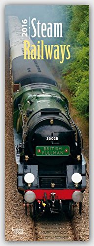 9781465048127: Steam Railways 2016 - Dampflokomotiven. Slimline-Kalender