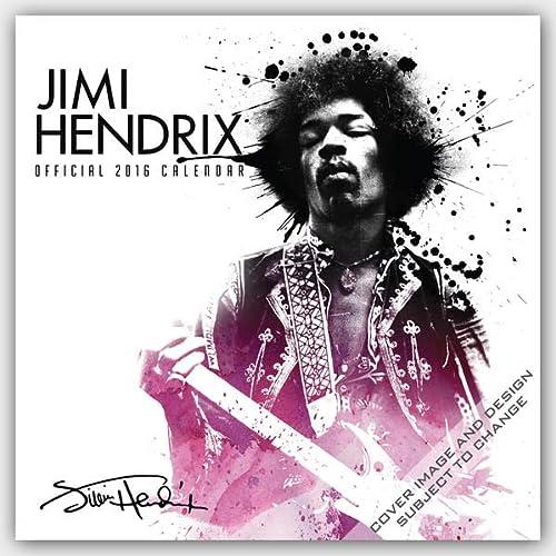 9781465050526: Jimi Hendrix 2016 - 18-Monatskalender: Original BrownTrout-Kalender