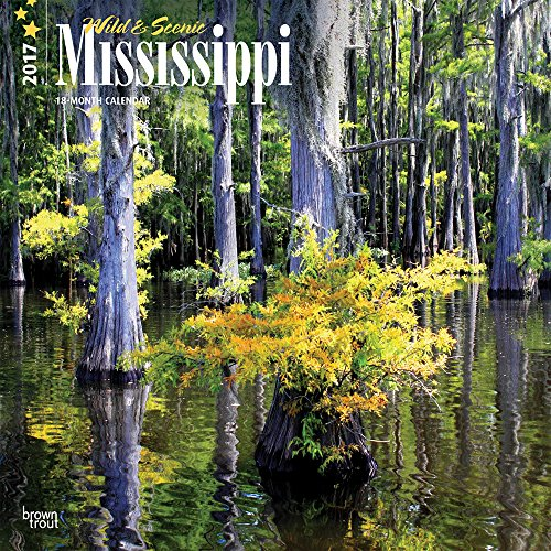 9781465054418: Mississippi, Wild & Scenic 2017 - 12inch x 12inch USA Hanging Square Wall Photographic America State Nature Planner Calendar