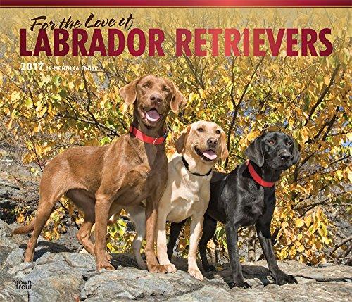 9781465080622: Labrador Retriever - For the Love of 2017 - 18-Monatskalender mit freier DogDays-App: Original BrownTrout-Kalender - Deluxe