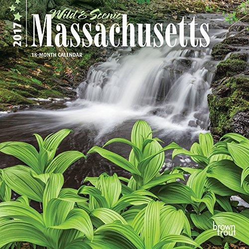9781465082749: Massachusetts - Wild & Scenic 2017 - 7inch x 7inch Hanging Mini Wall Photographic Nature Planner Calendar