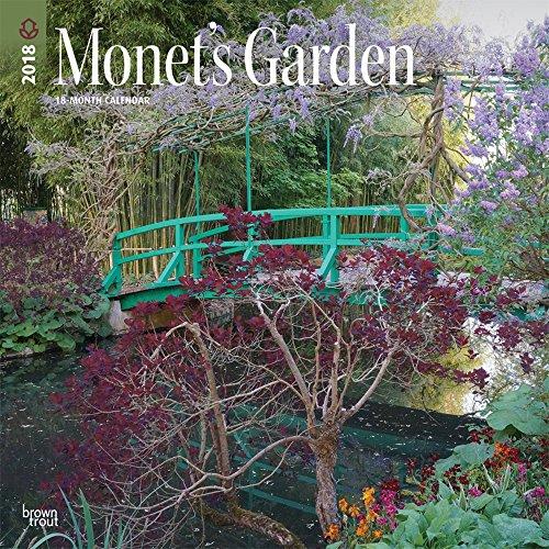 Secret Garden: Monet's Garden 2018 12 X 12 Inch Monthly Square Wall