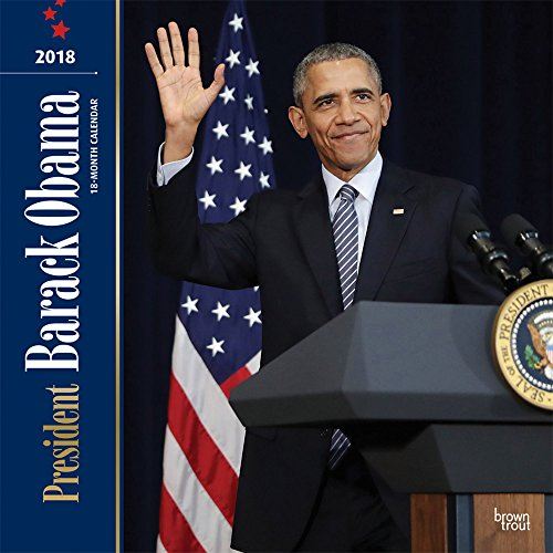 President Barack Obama 2018 12 x 12 Inch Monthly Square Wall Calendar, USA United States of America Famous Figure