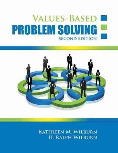 9781465203229: Values-Based Problem Solving