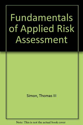 9781465203311: Fundamentals of Applied Risk Assessment