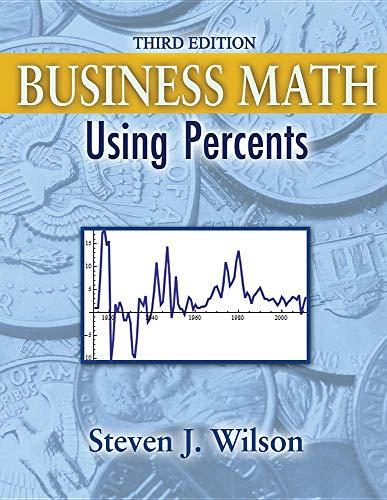 9781465203779: Business Math: Using Percents