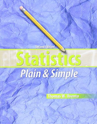 9781465204455: Statistics Plain and Simple