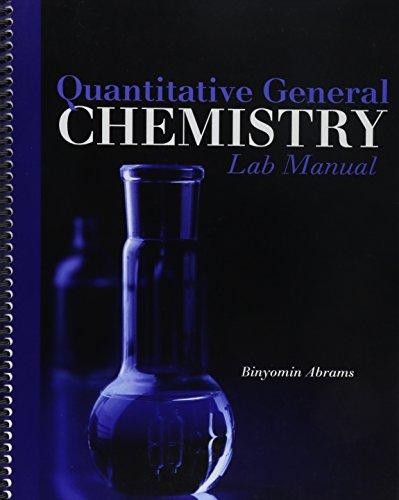 9781465208118: Quantitative General Chemistry Lab