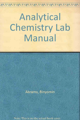 9781465208125: Analytical Chemistry Lab Manual
