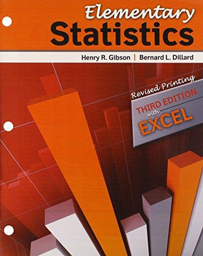 Elementary Statistics: GIBSON HENRY R;