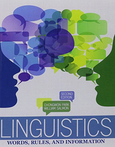 9781465212252: Linguistics: Words, Rules and Information