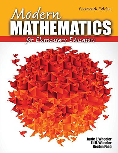 Modern Mathematics for Elementary Educators: WHEELER RURIC E,