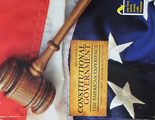 9781465222725: Constitutional Government: The American Experience