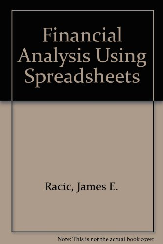 9781465223494: Financial Analysis Using Spreadsheets