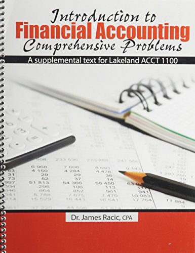 9781465223517: Introduction to Financial Accounting Comprehensive Problems