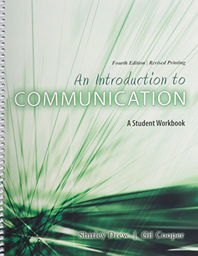 9781465226631: An Introduction to Communication: A Student Workbook