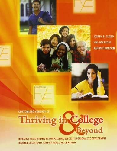 9781465228208: Customized Version of Thriving in College AND Beyond: Strategies for Academic Success and Personal Development: Concise Version Designed Specifically for Fort Hays State University