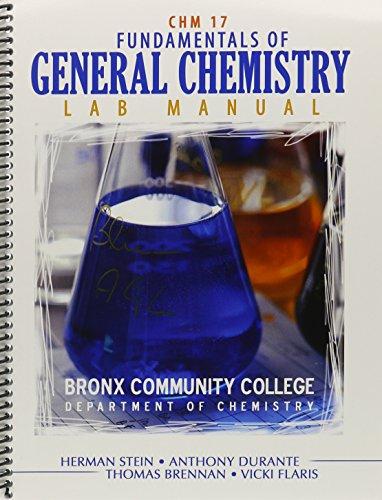 Fundamentals of General Chemistry: Lab Manual, Bronx: FLARIS VICKI